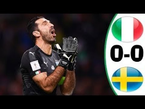 Italy vs Swedia 0 0 (agg 0 1) Full Highlights Play Off World Cup 2018 13-11-2017