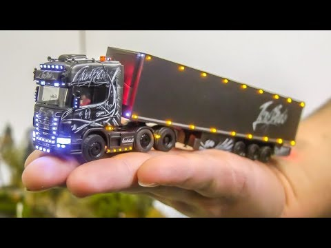 Mind blowing micro scale Trucks! Excavator! Logging Truck! 1/87!