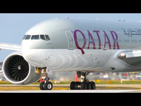 WORLD'S LONGEST FLIGHT Diverts to Melbourne Airport | 2x Qatar Airways 777-200LR Landing & Takeoff