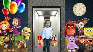 Лифт для детей.  Учимся считать от 1 до 10.