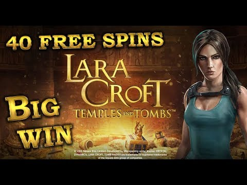 Lara Croft Temples And Tombs Slot, 40 Free Spins Big Win. Microgaming