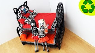How To Make A Triple Surprise Bunk Bed For Meowlody And Purrsephonewerecat- Doll Crafts