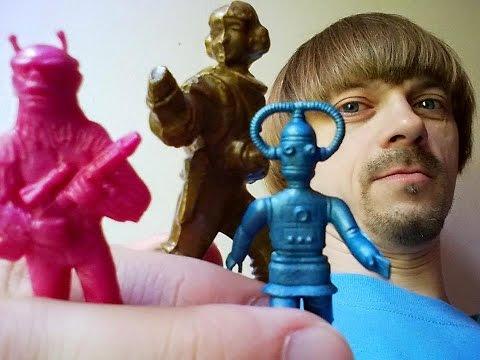 Vintage Spacemen Figures 70s 80s -(Weird Paul)  Collection 2015 plastic toy figurines star wars