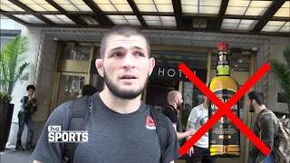 Khabib Nurmagomedov interview After Press Conference | Alcohol isn't Good
