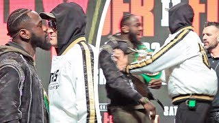 FACE OFF EXPLODES!! Deontay Wilder vs. Tyson Fury GO AT EACH OTHER!  PUSHING SHOVING & Talking SH**