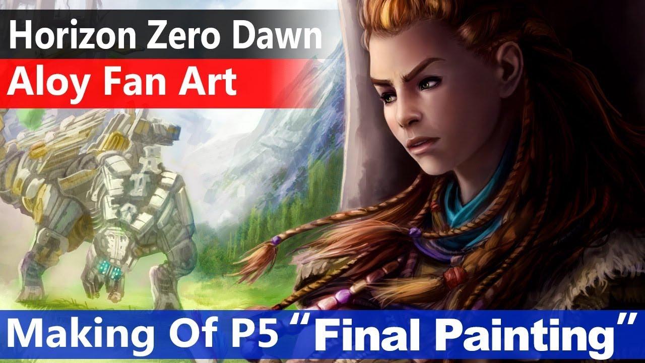 Aloy Horizon Zero Dawn 5 Final Painting Fan Art