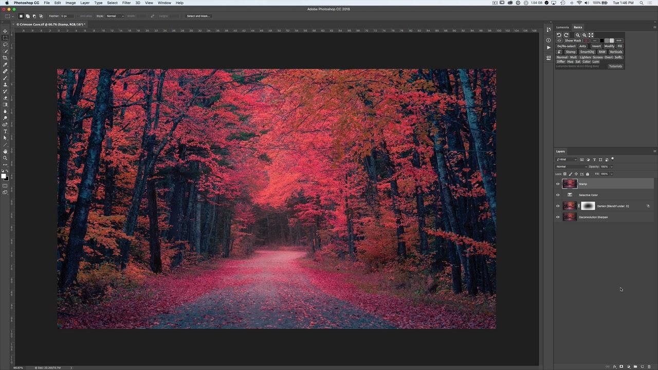 Lumenzia Basics extension panel for Photoshop