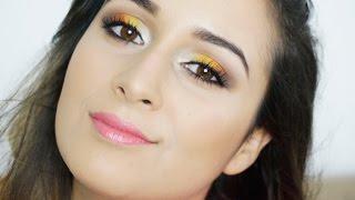Maquiagem Verão! Amarelo + Laranja