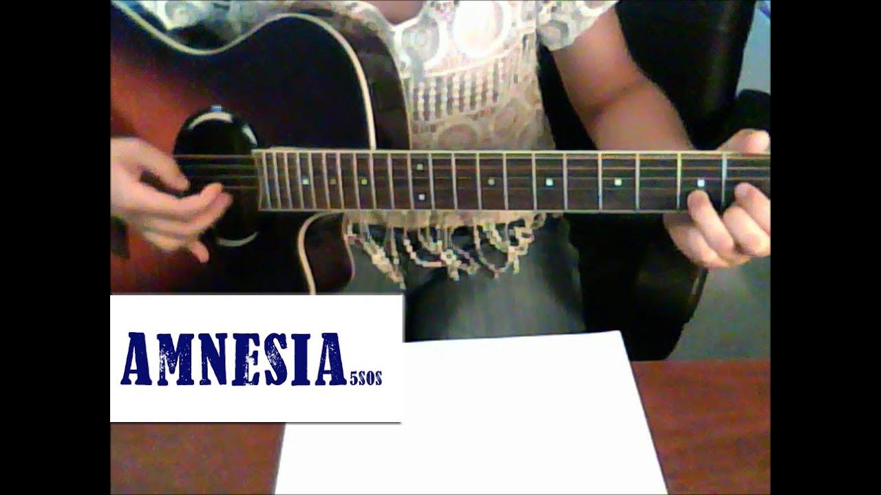 Amnesia- 5SOS Intermediate Guitar Tutorial (TABS) - YouTube