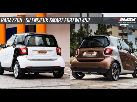 silencieux echappement ragazzon smart fortwo 453 youtube. Black Bedroom Furniture Sets. Home Design Ideas