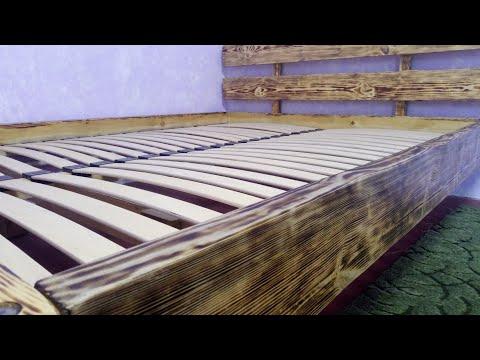 Кровать из бруса. Кровать своими руками за 50$