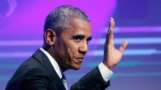 Obama returns to campaign trail with speech aimed at Trump, progressives