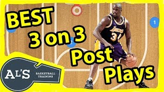 3 on 3 Basketball Plays With 2 Post Players