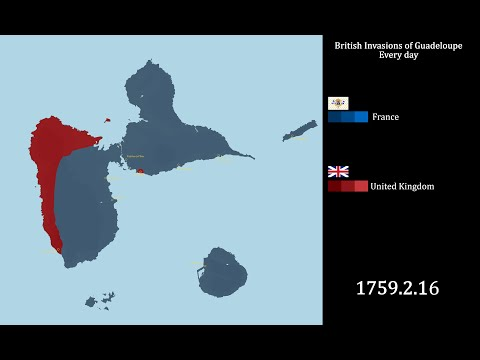The British invasions of Guadeloupe : every day