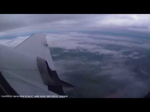 Take off in flight and landing in Jetstream 41 with GPS speed