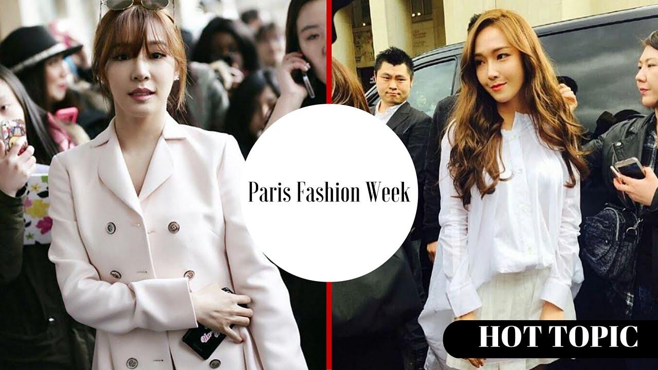 Snsd Tiffany Jessica Jung Reunite At Paris Fashion Week Hot Topic Youtube