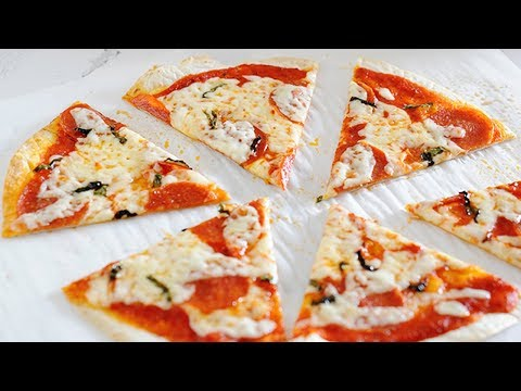 Tortilla Pizza Recipe | Toaster Oven Pizza & Oven Methods