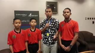 Langsung dari KLIA menemuramah tiga pemain Akademi Bola Sepak Negara Mokhtar