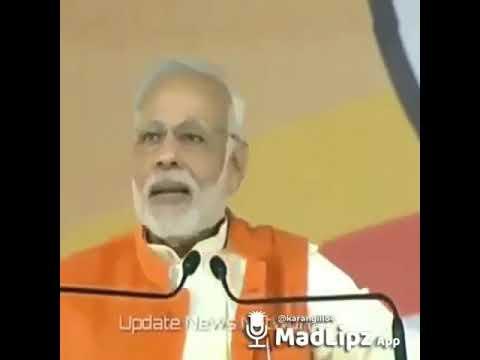 Modi say 'tor nal shada' with madlipzz..