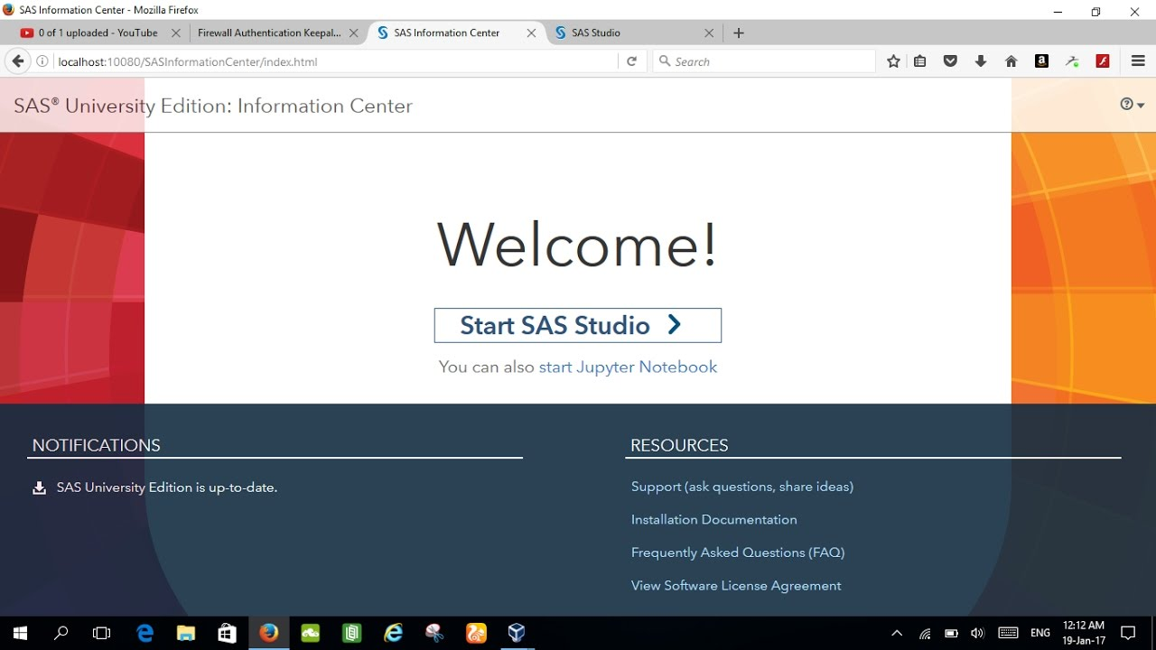 SAS University Edition Installation Tutorial