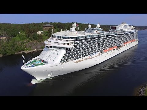 Regal Princess cruise ship in the Stockholm archipelago