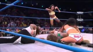 Impact Wrestling 02 05 13 Gail Kim & Tara vs+ Taryn Terrell & Mickie Jame part 2