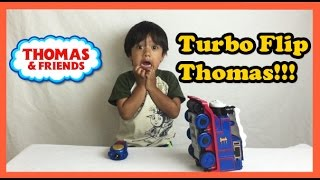 Ryan plays with Thomas and Friends Remote Control Toy Trains