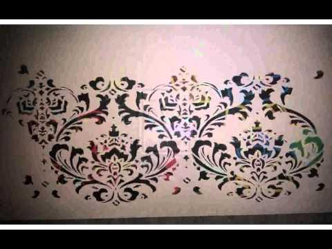 Stencil Per Pareti Ikea.Stencil Da Muro Immagini Youtube
