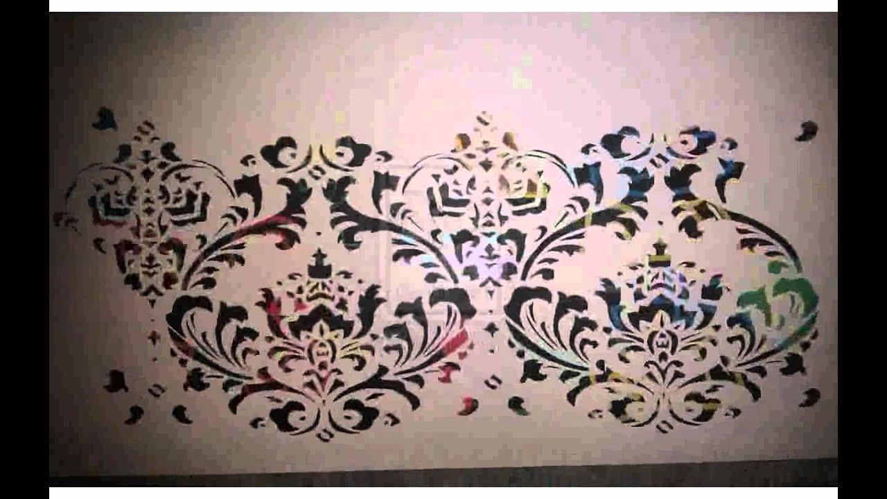 Stencil da muro immagini youtube for Disegni da parete