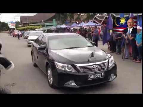 Menyambut ketibaan Perdana Menteri YAB Datuk Seri Najib Tun Razak ke Tamu Donggongon  tersebut.