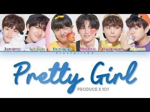 [PRODUCE X 101] Crayon Pastel (크레파스)  'Pretty Girl (이뻐 이뻐)' (Color Coded Han/Rom/Eng Lyrics)