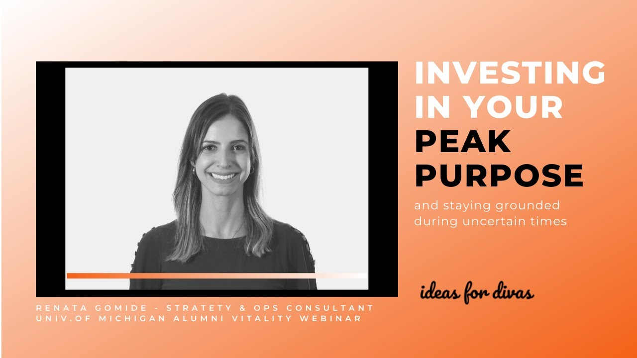 Investing in Your Peak Purpose and Staying Grounded