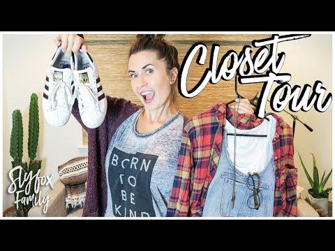 CLOSET TOUR & FASHION TIPS!