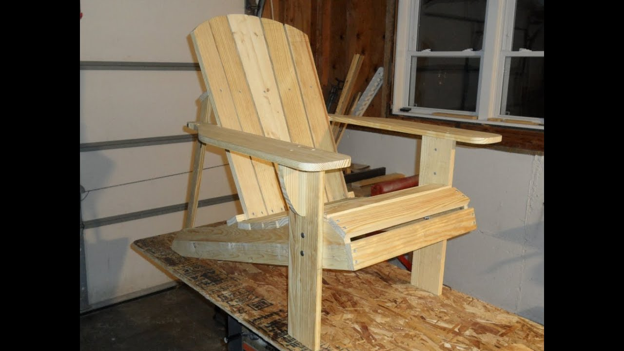 Adirondack Chair Project Update Youtube