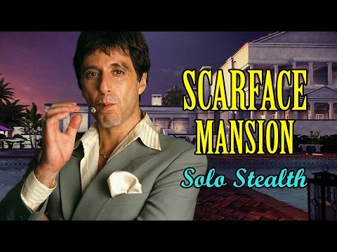[Payday 2] Scarface Mansion - Solo Stealth (One Down)