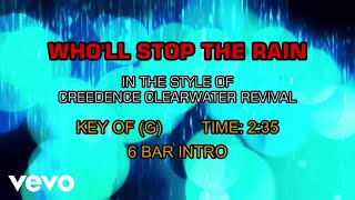 Creedence Clearwater Revival - Who'll Stop The Rain (Karaoke)