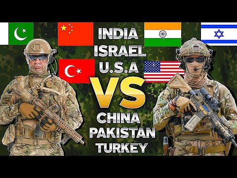 India U.S.A Israel VS China Pakistan Turkey | MILITARY COMPARISON | 2021