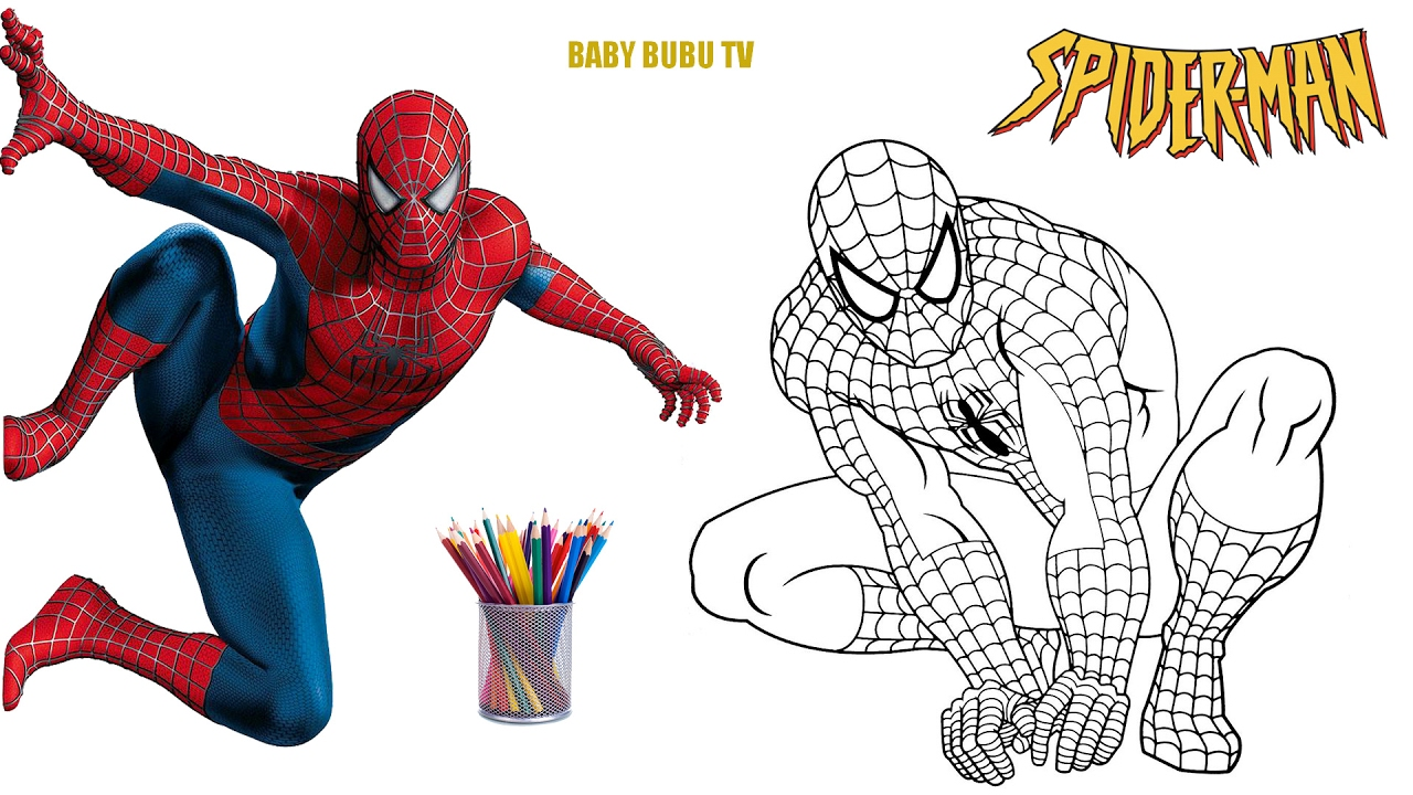 Spiderman Coloring Book, Coloring Pages For Kids - YouTube