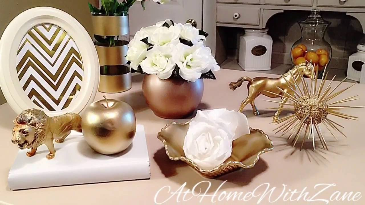 How to Create Gold Glam DIY Decor - YouTube