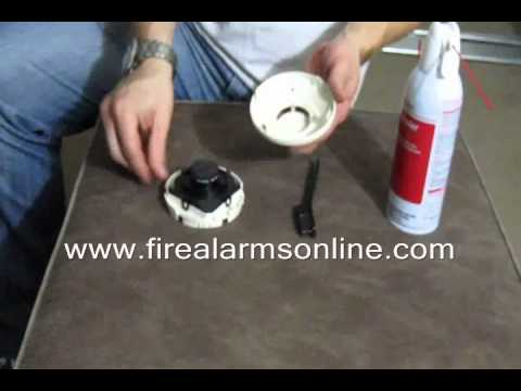 how to clean a system sensor smoke detector youtube. Black Bedroom Furniture Sets. Home Design Ideas
