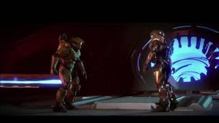 Master Chief vs Spartan Locke, mais chaque coup est remplacé par Roblox Death son