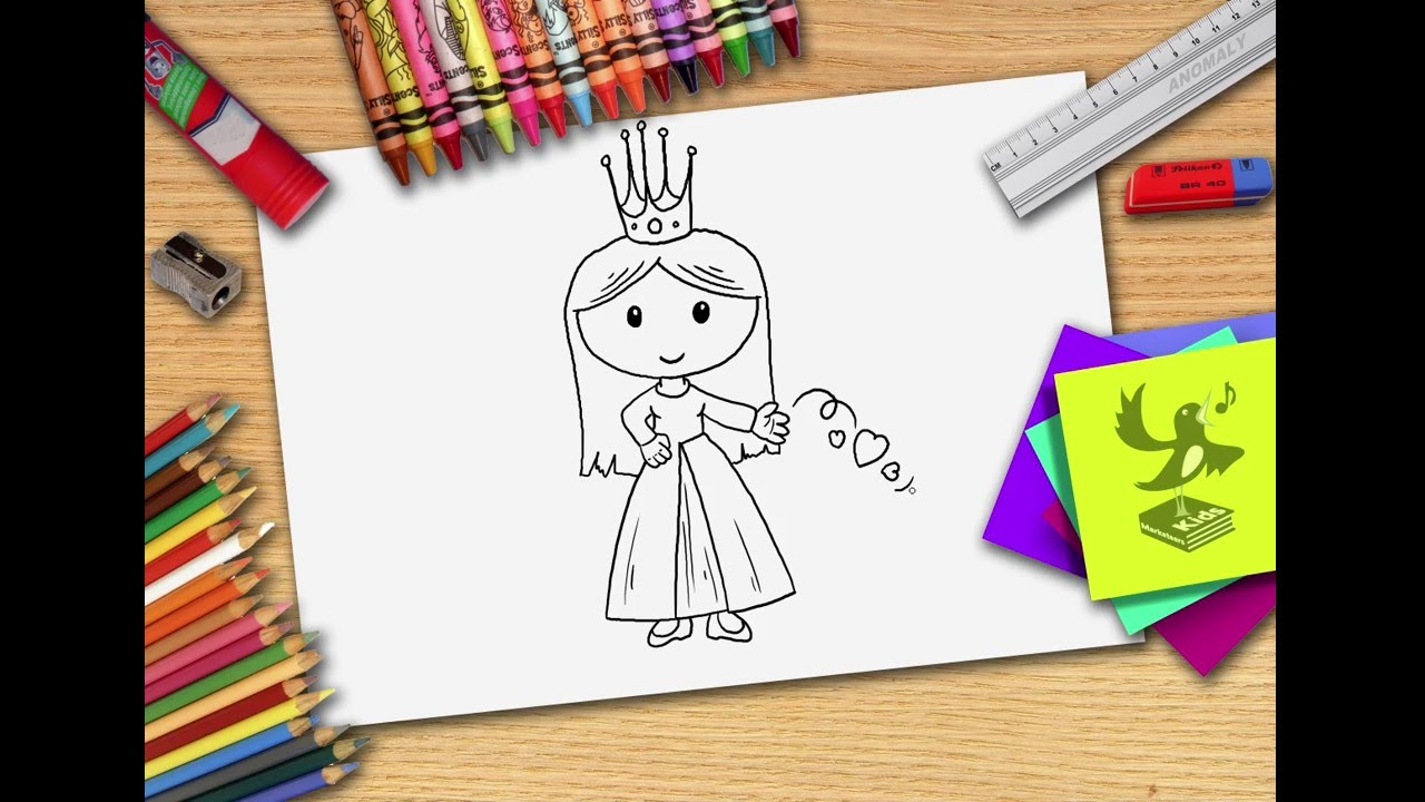 Hoe Teken Je Een Prinses Zelf Prinsessen Leren Tekenen