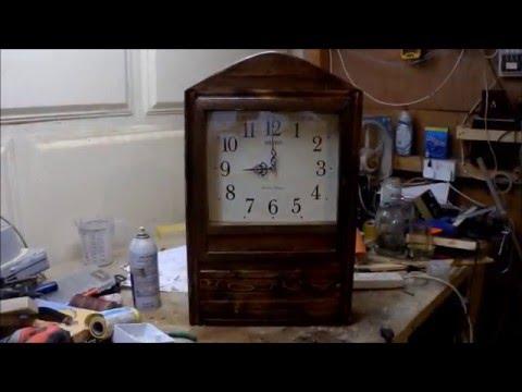 How to make  wood wall clock -- ساعة من الخشب