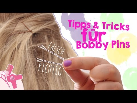 Haarnadeln richtig stecken I Bobby Pins benutzen I Bobby Pins Hairstyles