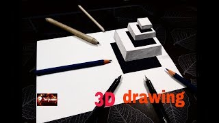 Very Easy Drawing - How to Draw 3D Floating Cubes - 3D Trick Art on Paper