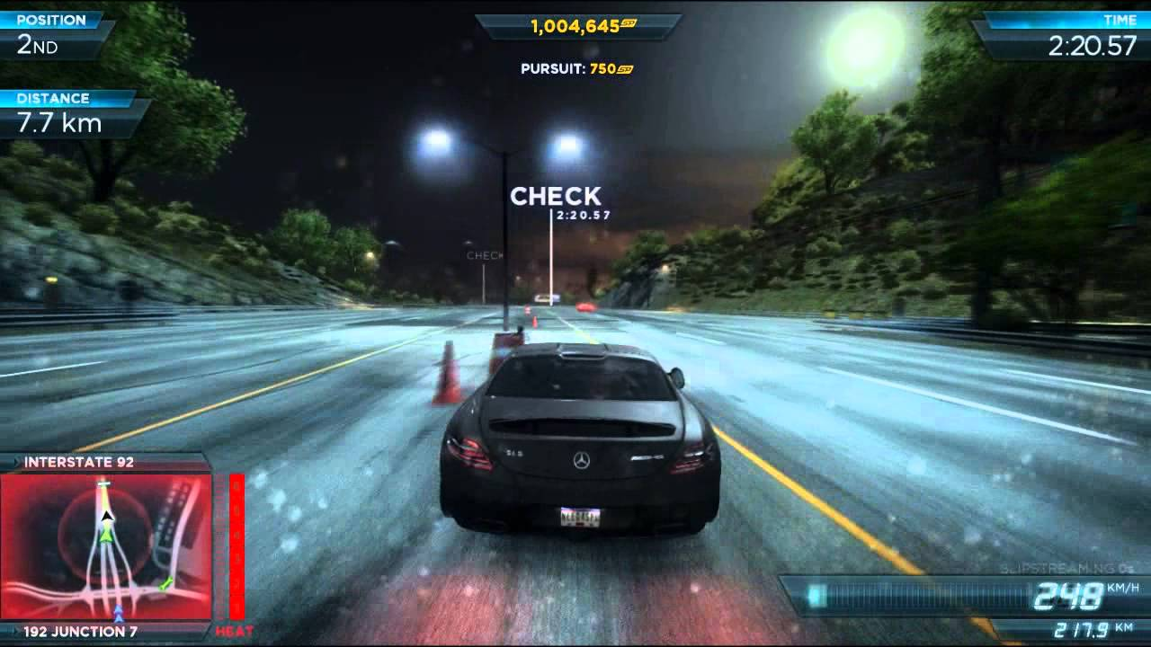need for speed most wanted 2012 final race - mercedes-benz sls amg