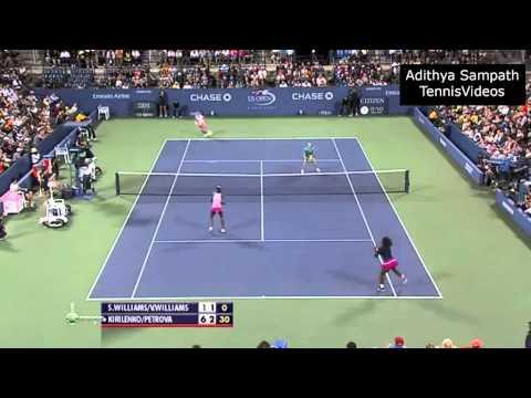 Petrova/Kirilenko vs Williams/Williams 2012 US Open Highlights