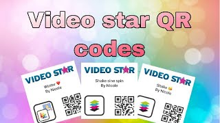 Video star QR codes ❤️