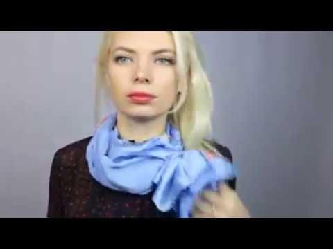 Как красиво завязать шарфик на шее к платью