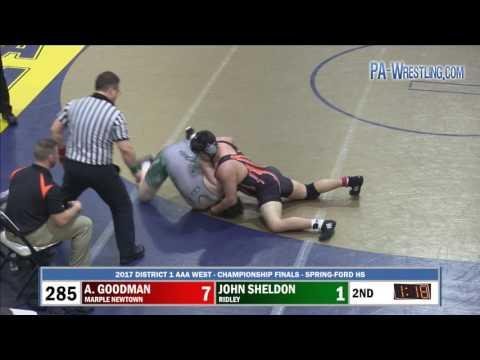 2017-02-25 285 lbs John Sheldon (Ridley) vs Anthony Goodman (Marple Newtown)